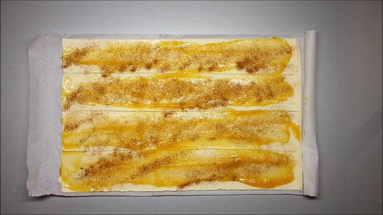listové těsto marmeláda
