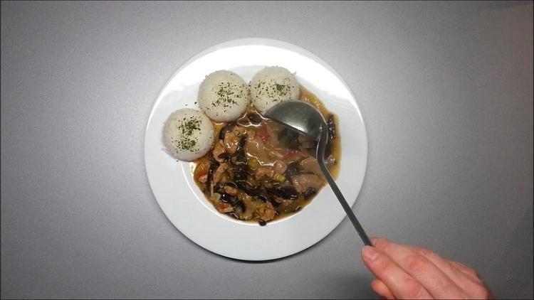maso s rýží recept