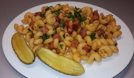 Těstoviny s anglickou slaninou